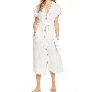 Free People Soaking Up Summer Button Midi Dress